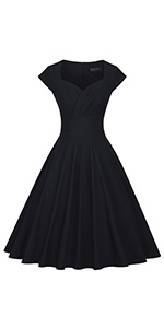 1950s Sweetheart Swing Dress