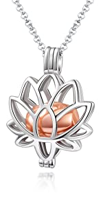 Flower urn necklace for women