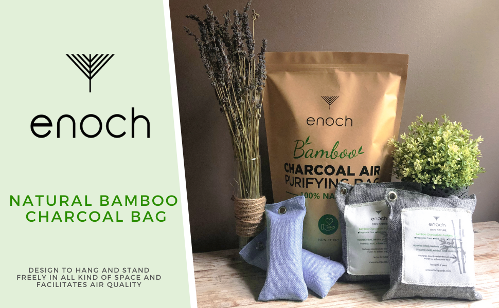 enoch activated bamboo charcoal air purifying bag natural odor eliminator absorber absorb smell
