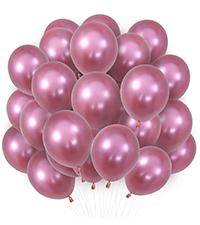 Pink Metallic Balloons