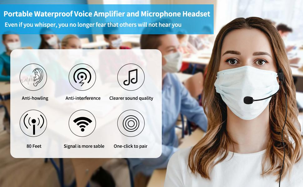 portable microphone and speaker