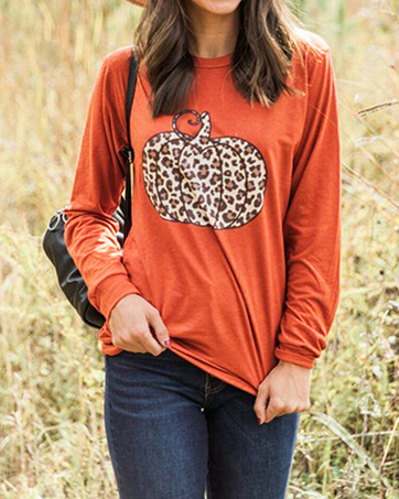 Funny Halloween Top for Women Long Sleeve Crewneck T Shirts Halloween Costumes Shirt
