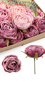 silk rose heads