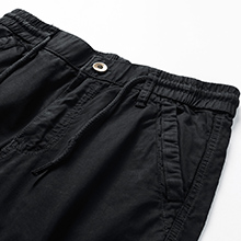Shorts waist with buttons and tiny elastic band