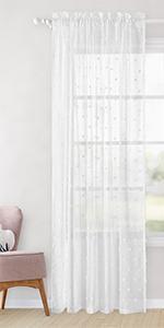 Homeideas Girls Sheer Curtains