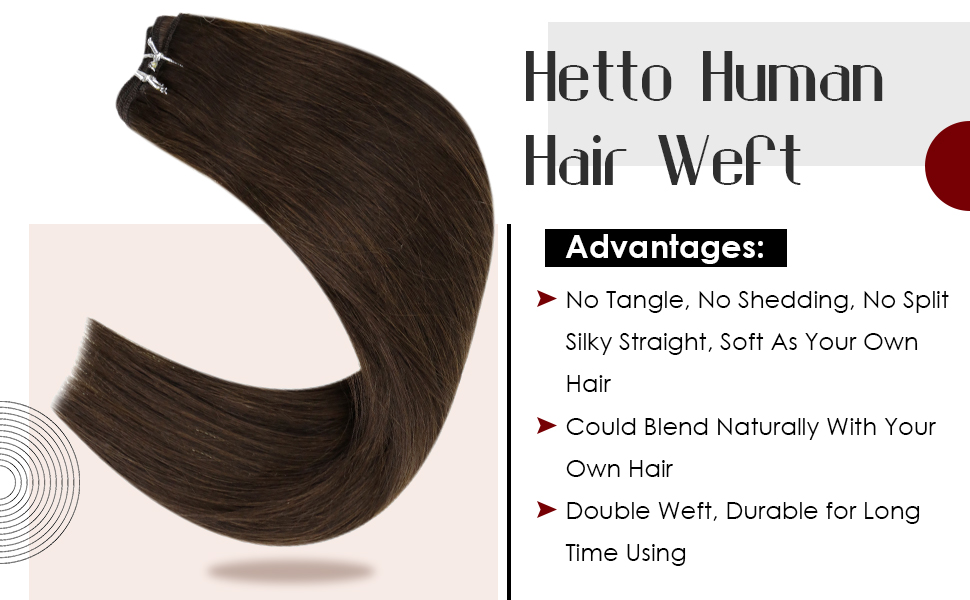 brown weft human hair