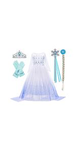 Elsa costume for girls, frozen 2 elsa costume