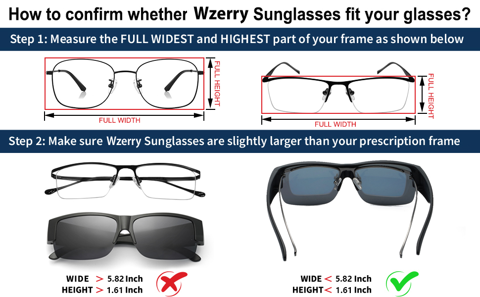 over glasses sunglasses