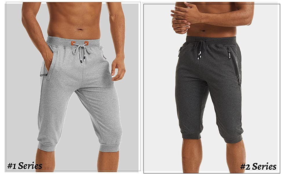 3/4 joggers for men