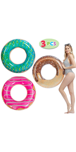 Donut Pool Float with Glitters