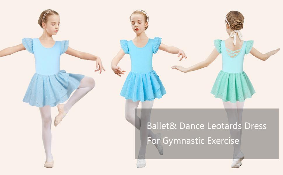 Girl Ballet Dance Leotard Dress