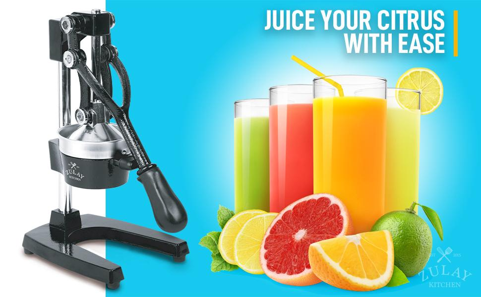 zulay manual citrus press juicer extract juice large squeezer home commercial professional extractor