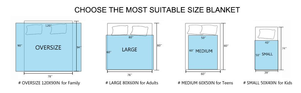 Baby Size Throw Size Twin Size Super King Size