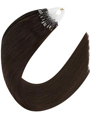 brown micro loop hair