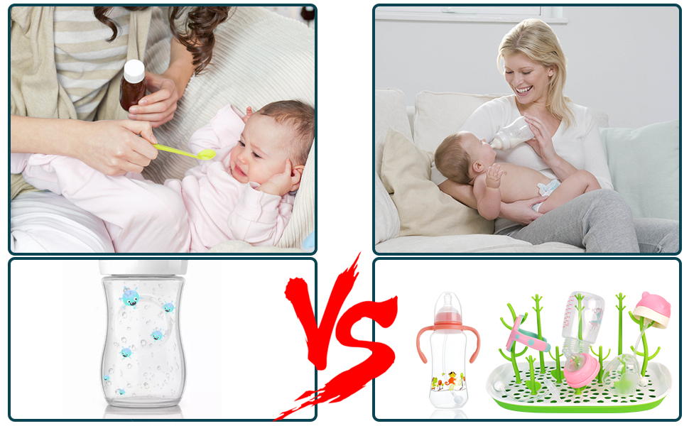 Dried baby bottles are more hygienic