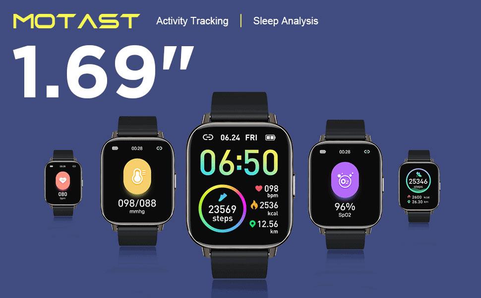 """Fitness Tracker 1.69"""" Touch Screen Smartwatch IP68 Waterproof reloj inteligente"""