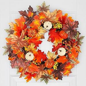 Halloween Fall Wreath for Front Door