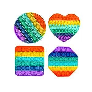 4pcs push pop bubble fidget sensory toy,