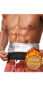 sauna vest for men tummy abdomen back support