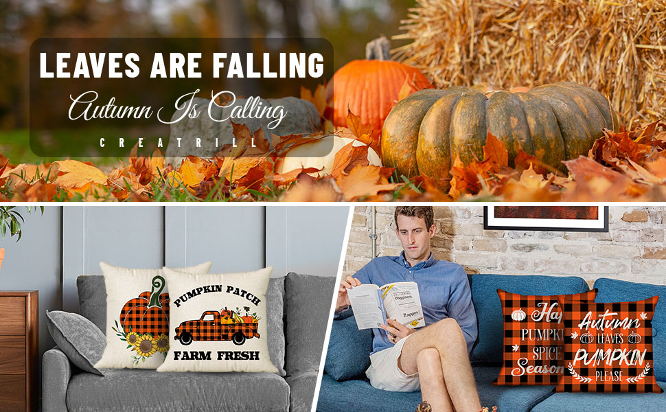 outdoor fall pillow covers