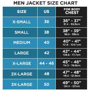 Mens Jacket Size Chart