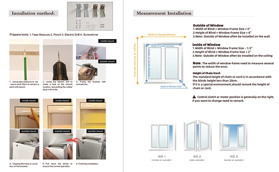 Measurement and installation of double-layer zebra blinds