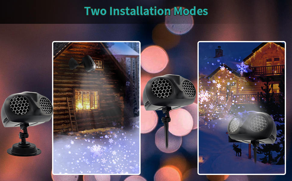 snow flake projector lights outdoor