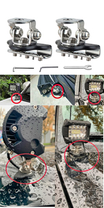 Hood Mounting Bracket Clamp Stainless Steel Holder Universal Engine Pillar Ditch Cover Bonnet Mount