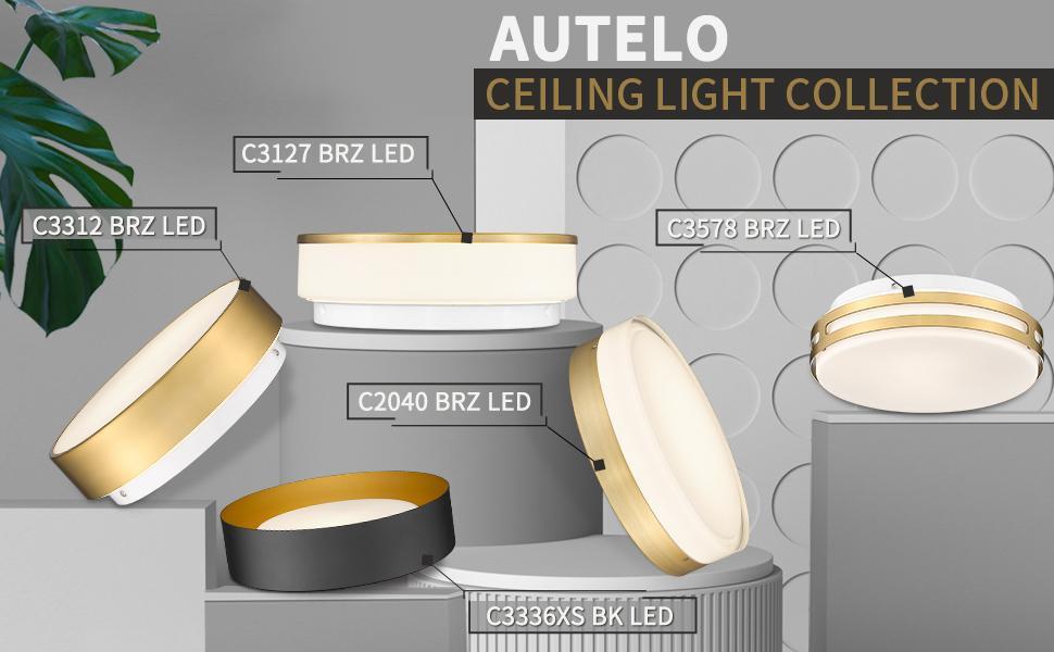 Autelo led ceiling light collection
