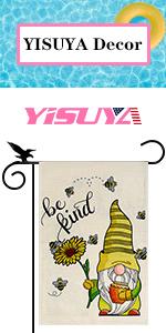 YISUYA gnome bee garden flag