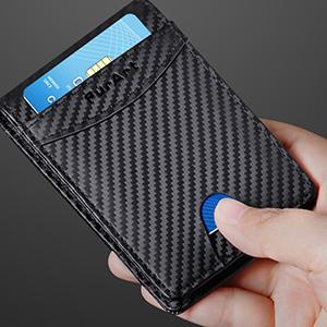 FurArt Mens Wallet Genuine Leather Slim Bifold Wallets