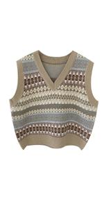 Women Sleeveless Knitted Sweater Vest