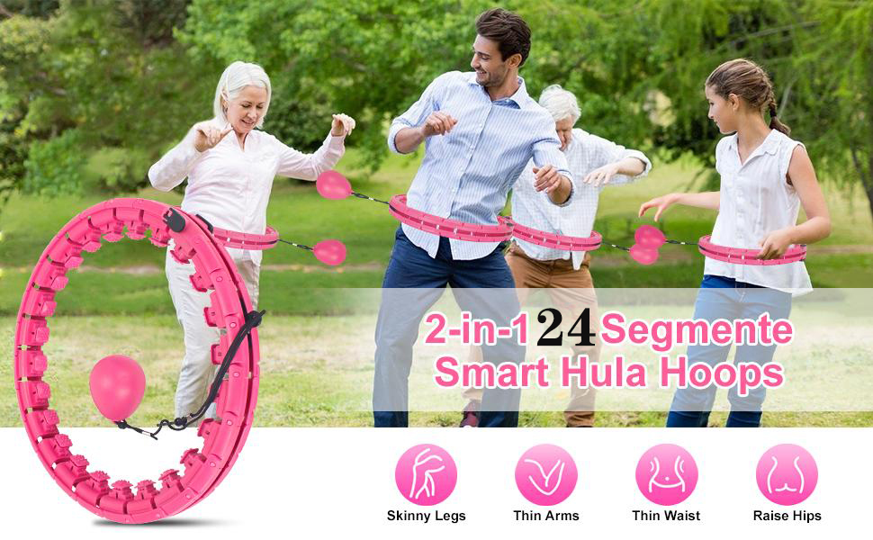 REGNBUE 2 in 1 Fitness and Massage Smart Hula Hoops