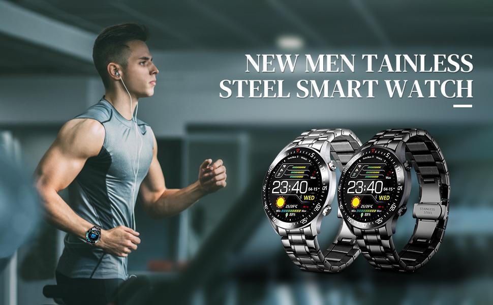 LIGE Stainless Steel Smartwatch