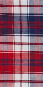 DII 4th of July-themed Americana Plaid Tabletop Collection.