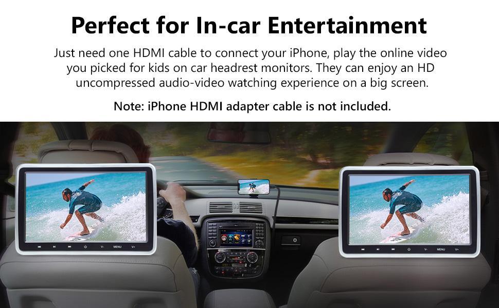 Dual Screen Headrest