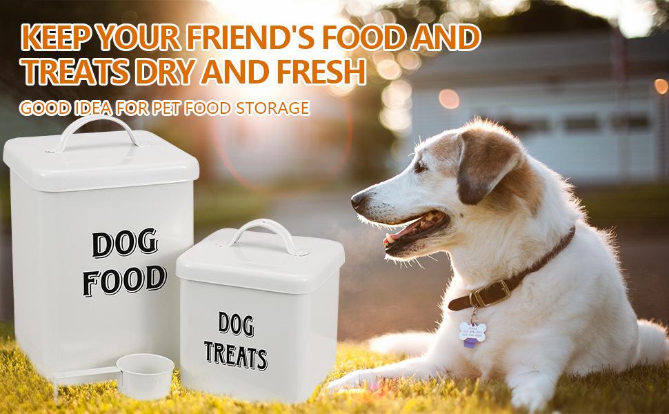 dog food bin with scoop