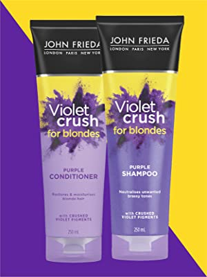 John Frieda Violet Crush Purple Shampoo Pigment Blonde Conditoner