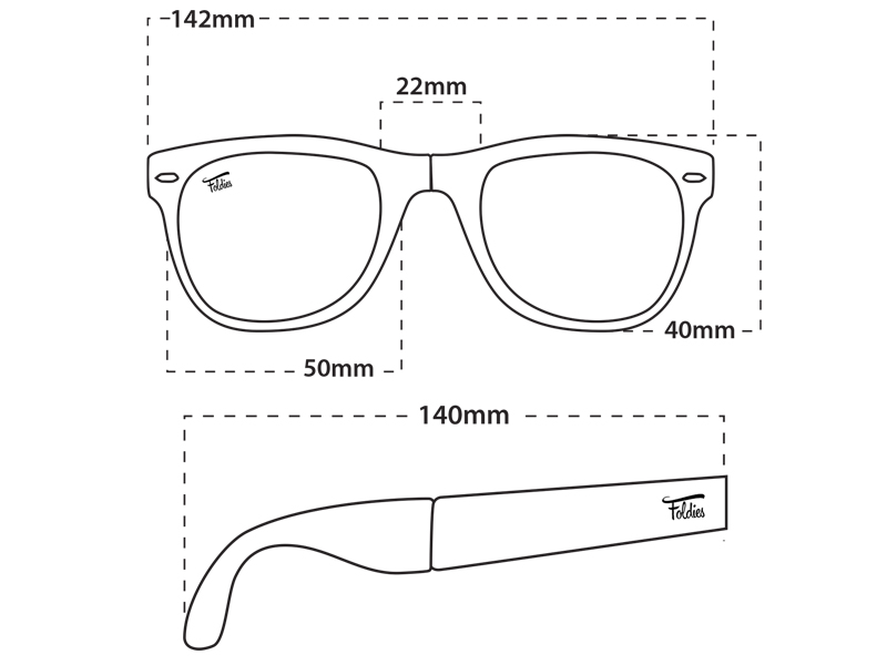 foldies classics size guide for men and women sunglasses