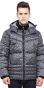 rokka and rolla mens grey heavy puffer jacket winter coat