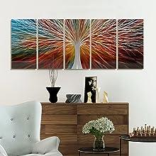 colorful tree metal art