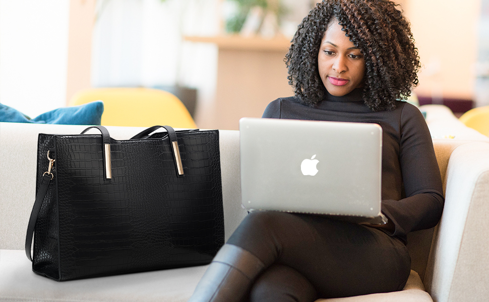 classic large office shoulder bag for women satchel purse for women fits 15.6 inch laptop