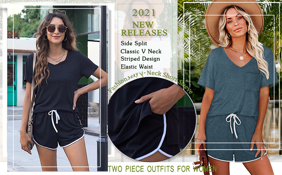 women two piece outfits sets summer
