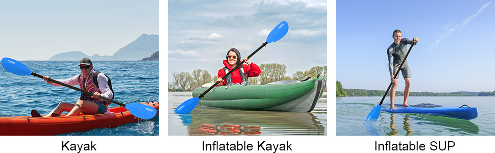 kayak paddle suitable for  Kayaking Fishing Touring Boating Oar Inflatable Kayak
