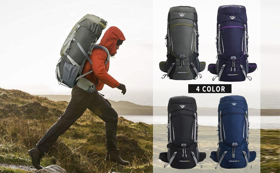 4 colors camping backpack
