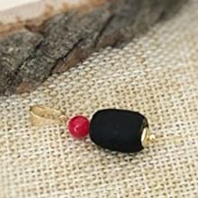 Azabache Jet Stone Red Coral Protection Pendant for Chains or Bracelets Dijes Mal de Ojo
