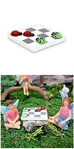 Fairy garden outdoor supplies indoor mini miniature accessories tools supply chess checker board