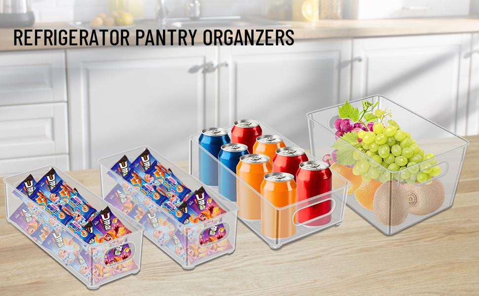 Plastic refrigerator storage box