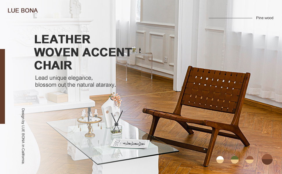 leather woven accent chair  lead unique elegance Blossom out the natural ataraxy