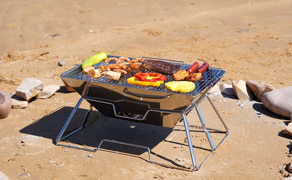 stove camping grill fire wood portable pit campfire folding grate camp over otzi bbq smores burner